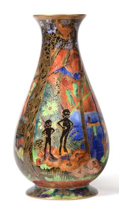 Tennants Auctioneers: A Wedgwood Flame Fairyland Lustre Imps on a Bridge 3451 Vase