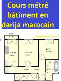 métré bâtiment Cours en dialècte marocain - 11 vidéos Civil Engineering, Autocad, Floor Plans, Diagram, House Design, How To Plan, Genie, Document, Pdf