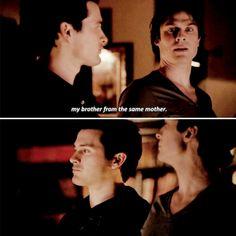 """The Vampire Diaries""; 6x20 - Enzo (Michael Malarkey) and Damon (Ian Somerhalder)"