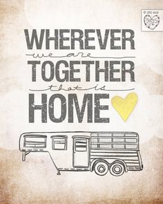 LOVE this etsy shop. - Horse Trailer Edition- wherever we are together Series