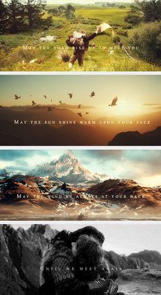 An Irish blessing... :') Que a estrada levante-se para encontrá-lo; Que o sol brilhe no seu rosto; Que o vento esteja sempre às suas costas, até que nos encontremos novamente.