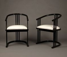Ebonized Chairs | From a unique collection of antique and modern armchairs at https://www.1stdibs.com/furniture/seating/armchairs/