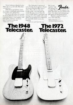 The 1948 Telecaster. The 1972 Telecaster
