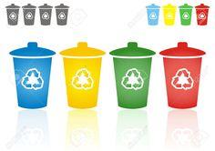 four recycling bins - Google Search