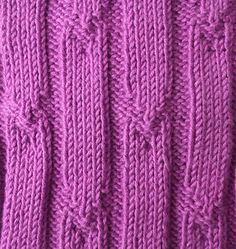 Tick rib knitting stitches