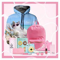 """Study In Style"" by yoprntclothing ❤ liked on Polyvore featuring ban.do, Herschel Supply Co., Polaroid, Converse, Victoria's Secret, Deborah Lippmann, Mykita, Kipling and Christian Dior"