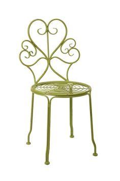 $68.00 Calfornia Cool: summer bright  iriana green iron side chair