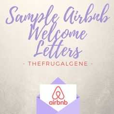 Sample AirBnB Template - Welcome Letters & Security Deposit + Free AirBnB Printables