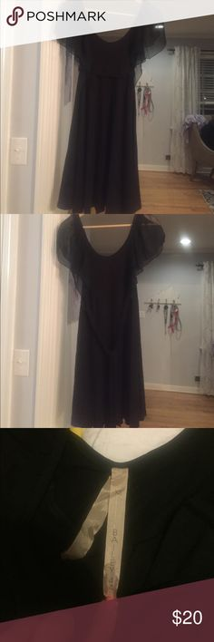 Bailey 44 black dress - size XS Bailey 44 black dress with sheer sleeves and tie at waist.  Size XS.  Like new Bailey 44 Dresses Midi