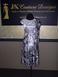 Mikaela  Silver Print Dress by JKCoutureDesigns on Etsy, $499.00