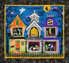 Witchy Ladies Fusible Applique Wall Quilt Pattern by Sue Pritt