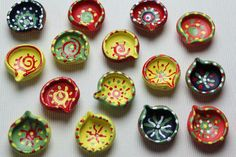 The diyas I painted !