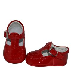 Red t-bar patent leather shoes - shoes - babymaC - Stylish Spanish baby clothes - 1