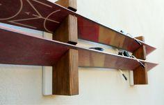 wood ski rack ski holder Winter sport accessories storage handmade ski rack ski storage skies gift for skiers real wood ski display Ski Rack, Winter Sports, Real Wood, Wood Projects, Skiing, Woods, Display, Etsy, Storage