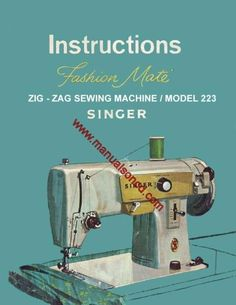 Singer 223 Sewing Machine Instruction Manual Pdf  Model: 223  Here are just a few examples of what's included in this manual:  * Threading the machine. * Winding & Threading the bobbin. * Tension adjustment. * Straight stitch, Zig Zag And more. * Removing and replacing shuttle. * Cleaning and oiling your machine.  32 page manual.