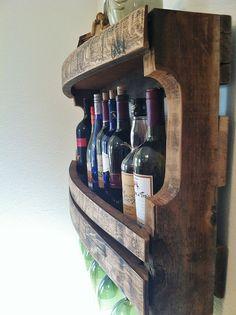 Rustic Wine Rack, Reclaimed Napa Valley Wine Barrel Staves, Primitive, Handmade Wine Rack on Etsy, $149.00