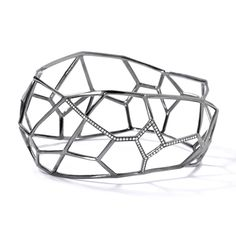 Ippolita | Black Sterling Silver IPPOLITA Wicked Cage Cuff with Diamonds