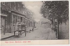 vintage postcard High Street Mortlake about 1867 Horse Car Postboy Richmond Surrey, Richmond London, Richmond Upon Thames, Old London, London Postcard, Buckingham Palace, Bristol, Old Photos, Liverpool