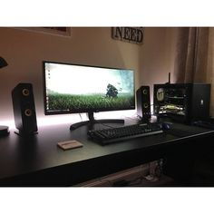 If you need to buy a desktop computer, you have . Office Games, Office Setup, Pc Setup, Room Setup, Computer Desk Setup, Gaming Desk, Gaming Setup, Pc Desk, Computer Internet
