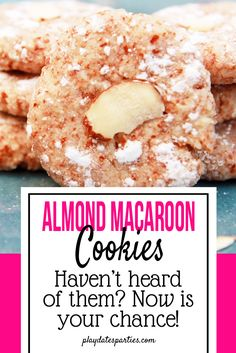 Did you know that macaroons were originally made with almonds instead of coconut? Take a look at the comparison of a coconut macaroons recipe vs an almond macaroons recipe. Which do you think was better? http://playdatesparties.com/12-days-of-christmas-cookies-macaroons/
