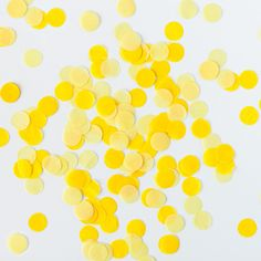 Tissue Paper Confetti - Yellow - The TomKat Studio Shop