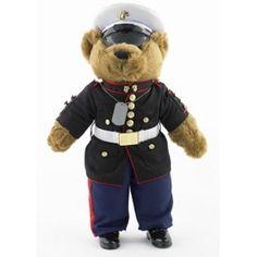Dress Blues Plush Marine Corps Bear