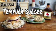 TEMPURA BURGER Tempura, Hamburger, Chicken, Ethnic Recipes, Food, Meal, Hamburgers, Essen, Hoods