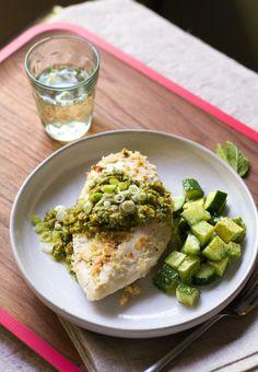 Baked Chicken with Jalapeno Pesto