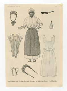 90.529: Aunt Dinah | paper doll | Paper Dolls | Dolls | National Museum of Play Online Collections | The Strong