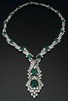 71.85 cttw Emerald and Diamond Collar Necklace