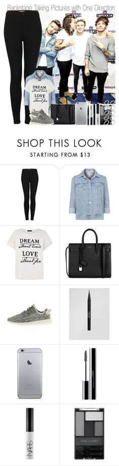 """Backstage Taking Pictures with One Direction"" by elise-22 ❤ liked on Polyvore featuring Topshop, Yves Saint Laurent, adidas, Stila, shu uemura, NARS Cosmetics, Wet n Wild and ASOS"