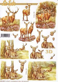 deer 3d card topper