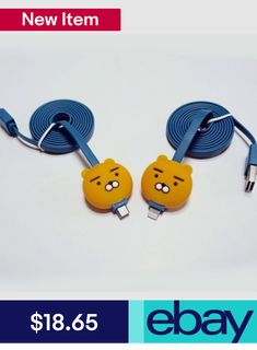 4dc35d8c690a6 Kakao Friends Ryan USB Charge Cable iPhone Galaxy Android Mobile Phone in  Phones   Accessories