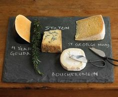 cool idea to identify items on a cheese plate.