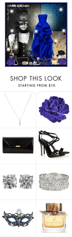 """Look 100"" by luanacarvalho ❤ liked on Polyvore featuring Floyd, Tiffany & Co., Chanel, Reem, Mark Cross, Gianvito Rossi, Burberry, Masquerade, mask and venice"