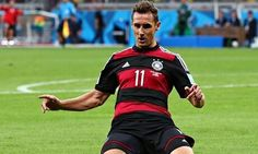 Congratulations Miroslav Klose - the leading World Cup goal scorer with 16 goals in his fourth World Cup #BRAGER