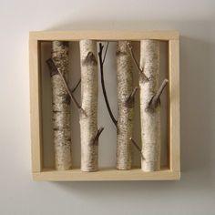white birch forest - organic wall art