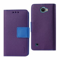 Reiko Lg Spree Wallet Case 3 In 1-Purple With Interior Leather Polymer And Stand Function