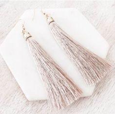 The Simplice Tassel Earrings in Nude - Available now at www.tealandtala.com.au Tassel Earrings, Tassels, Jewelry, Fashion, Moda, Jewlery, Jewerly, Fashion Styles, Schmuck