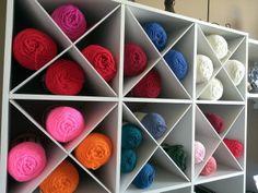 Yarn organizer craft room - thesteadyhandblog.com