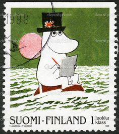 Shop for moomin art from the world's greatest living artists. All moomin artwork ships within 48 hours and includes a money-back guarantee. Choose your favorite moomin designs and purchase them as wall art, home decor, phone cases, tote bags, and more! Tove Jansson, Illustration, Stamp Collecting, Mail Art, Postage Stamps, Fairy Tales, Poster, Drawings, Artwork
