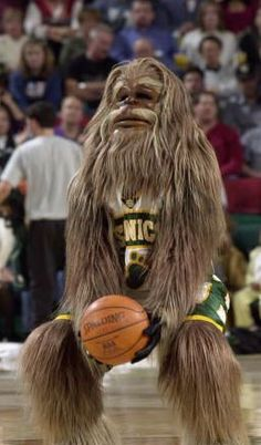 Squatch, former Mascot of the team formerly known as the Seattle Supersonics.