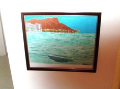 Here is the framed colored pencil sketch of Waikiki, which has a techno color theme to it. This was achieved by using the vibrant hued colored pencils. Pencil Drawings, My Drawings, Ocean Drawing, Waikiki Beach, Pictures To Draw, Pacific Ocean, Color Themes, Colored Pencils, Techno