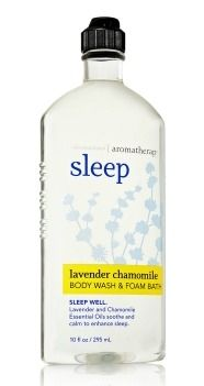 Bath & Body Works Aromatherapy Sleep -- This stuff is amazing and super calming.. really gets you ready for bed.
