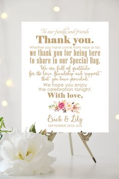 Thank You Sign Various Sizes Add Your by CharmingEndeavours