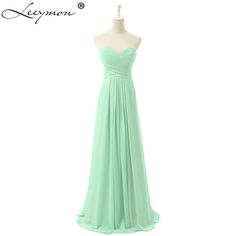 >> Click to Buy << Real 3 Colors A -Lin Chiffon Mint Green Bridesmaid Dresses Sweetheart Wedding Party Gowns For Girls AQH09 #Affiliate