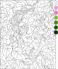 Nicole's Free Coloring Pages Pattern Coloring Pages, Printable Adult Coloring Pages, Disney Coloring Pages, Mandala Coloring Pages, Coloring Book Pages, Coloring For Kids, Adult Color By Number, Color By Number Printable, Color By Numbers