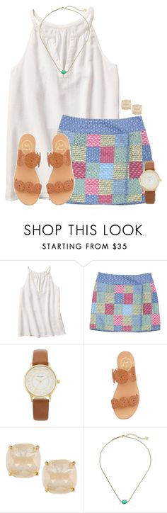"""Love this Vineyard Vines skirt:)"" by flroasburn on Polyvore featuring Vineyard Vines, Kate Spade, Jack Rogers and Kendra Scott"