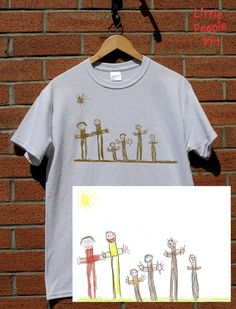 Items similar to Personalized male cotton t-shirt with your child drawing personalized gift custom handmade on Etsy Family Drawing, Drawing For Kids, Little Bit Of You, Little People, Sweet Pic, People Art, Personalized T Shirts, Ink Color, Family Portraits