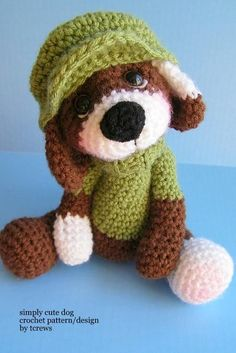 Dog, Simply Cute Crochet Pattern.